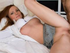 Teen redhead fucked after sucking some cock