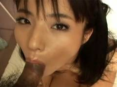 Hot Asian girl goes down on man's dick before getting cunt screwed
